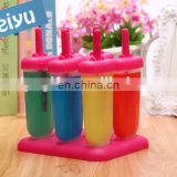 hot selling food grade material PP ice cream DIY tools, rectangle shaped rubber ice cream mould