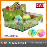 "Funny 3"" PU ball 24pcs/display box small pvc inflatable ball"