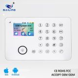 PSTN/TFT/GSM home alarm system wireless anti theft anti lost alarm system