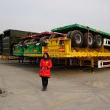 Sinotruk 3 axles 40ft 60tons flatbed skeleton container semi trailer