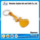 Guitar shape personalized keychain bottle opener