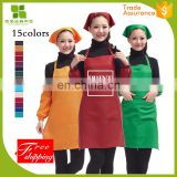 2017 most popular white spun polyester apron with high quality