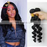 WHOLESALE price Peruvian human virgin remy hair weaving in loose wave cuticle aligned hair