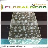 Flocking Organza Table Runner