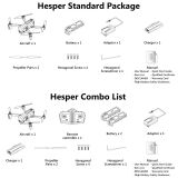 Hesper Drone with Camera for Mini Size Aerial Photography Quadcopter Drone