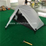 White Color One Man Field Tents Ultralight Double Layer Backpacking 1 Man Tent