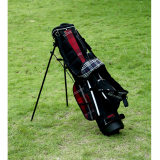 Red checks light weight golf stand bag junior golf bag