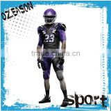 Customized unique black American football jersey manufacturer in china