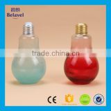 200ml empty glass drinking bottle with lid clear glass bulb juice bottle                                                                                                         Supplier's Choice