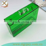 fashion clear acrylic clutch box with magnet locker
