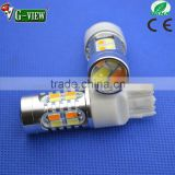 T25 3157 Switchback LED Dual Color White Amber yellow 20 SMD 5630 5730 LED For DRL Turn Signal Lights