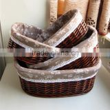 Decorative handmade container wholesale promotional handwoven willow rattan natural folk wicker baskets                                                                         Quality Choice