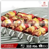 Hot sale FDA LFGB 430 stainless steel bbq skewer frame