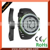 2014 New Large Wristwatches 5ATM soft chest big Lcd display heart rate monitor Pluse watch