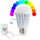 good new product ideas 2015,rgb led bulbs wifi smart buletooth e27 b22 with ce rohs control by SmartPhone