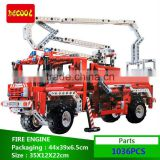 Decool bricks 3323 Exploiter 1036Pcs Fire engine model bricks toys Building bricks Blocks Toys