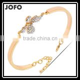 Lovely High Quality 18k Gold Plated Crystal Butterfly Female Bracelets & Bangles Fashion Jewelry
