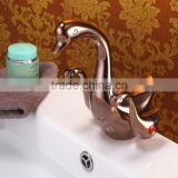 Brass Artistic Basin Faucet, Duck Shape, Rose Color Animal Faucet                                                                         Quality Choice