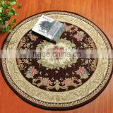 Round Embroidered Braided Oriental Art Chenill Yarn Jacquard Home Textile Table Living Room Carpet Non Woven Anti Slip Backing