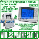 Indoor Outdoor Temperature Barometer Humidity Centigrade Fahrenheit Wireless Weather Station