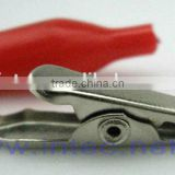 Jumper Wires Alligator Crocodile Roach Test Clip Plastic Handles Crocodile clips 27mm red color I00091