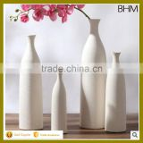 Bisque firing tall round ceramic white european vase modern for table centerpiece