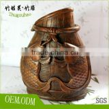 Chinese culture love folk art crafts collection bamboo root carving