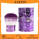 Crystal synthetic hair purple makeup kabuki brush wholesale