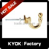KYOK Wrought iron metal curtain hooks,22mm curtain hooks types,competitive price curtain accessories