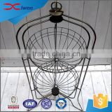 Custom garden decorative 2 tier hanging wrought iron flower pot stands                                                                                                         Supplier's Choice
