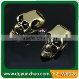 Popular skull beads for paracord bracelet, metal skull beads