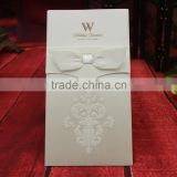2016 White pocket wedding Decoration&Gifts with Ribbon paper Wedding Invitation cards