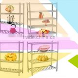 Fashion design kitchen appliance stainless steel storage rack shelf OEM factory professional with 4 or 5 shelves for commercial