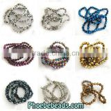 Wholesale 4mm Plating Color Crystal Bicone Beads For Hanging Decoration PB-CB028