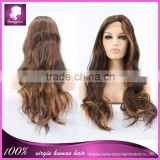 Long wavy heat resistant party synthetic hair wig lace front synthetic wig in stock