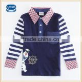 (A598D) 2-6y frozen snowman polo shirts nova kids long sleeve frozen toddler tshirts