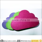 cloud felt pad caster cup laser cutting felt green mat