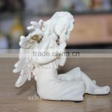 OEM design angel resin statue wholesales/resin angel figurine for decoration/custom design resin angel statue in china