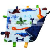 27 Minky Dot Colors Personalized Security Blanket for Baby Tag Jewelry