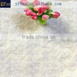 2016 new design lace fabric, eyelet cotton embroidery fabric