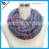 brand name fashion stripe chevron infinity print scarf