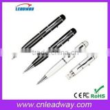 metal pen with logo usb wholesale ballpen usb flash drive with laser logo and free preload in gift box 1gb to 64GB