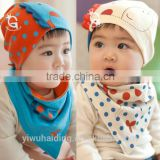 New Korean style children's Cotton triangle baby scarves and hats