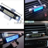 High quality Car Air Vent Clip Digital Clock Time Thermometer Celsius Digital LED Backlight