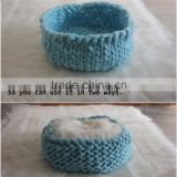 Newborn Pod Newborn Bowl Baby Cocoon Newborn Knitted Nesting Photo Prop