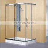 Aluminium Frame Tempered Glass Bath Shower Cabin with Acrylic Base