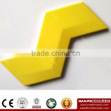 Imark AXIS Z Shape 3D- Effect Pure Bright Yellow Colorful Gloosy Glazed Ceramic Wall Tile For Sunshine Room Decoration