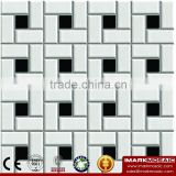IMARK China Manufacturing Mixed Black And White Color Ceramic Mosaic Tile For Modern Wall Decoration