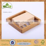 Custom bamboo soap holder , wooden soap dishes , wooden bath soap holder
