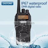Popular DMR digital radio ZASTONE DP880 UHF dmr transceivers with IP67 waterproof function free headset